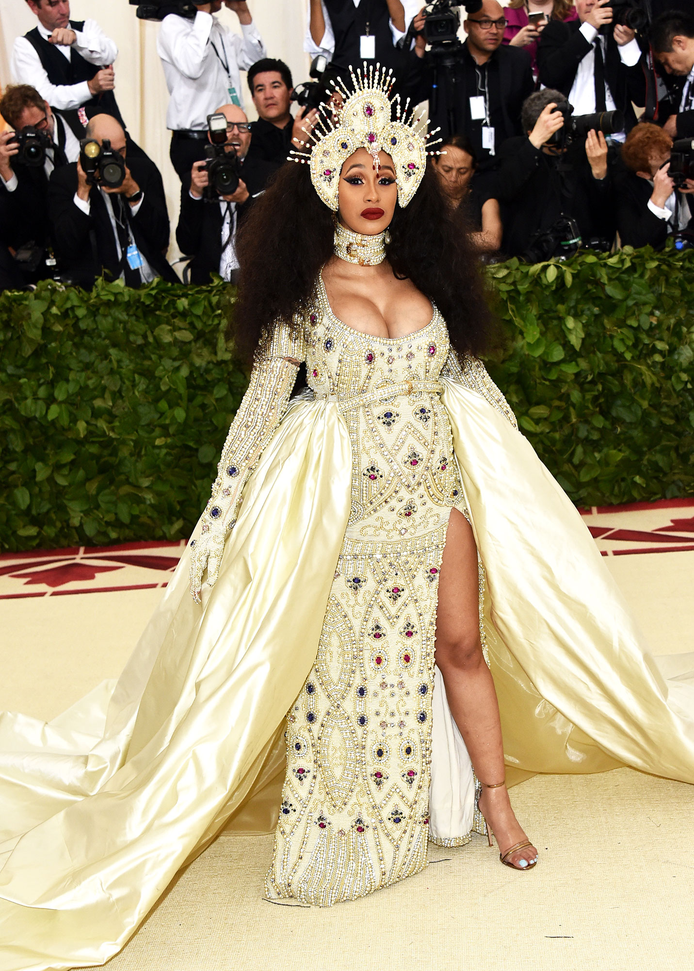 Cardi B The Wild Met Gala Red Carpet Fashion Looks We Can't Stop Thinking About - In Moschino.