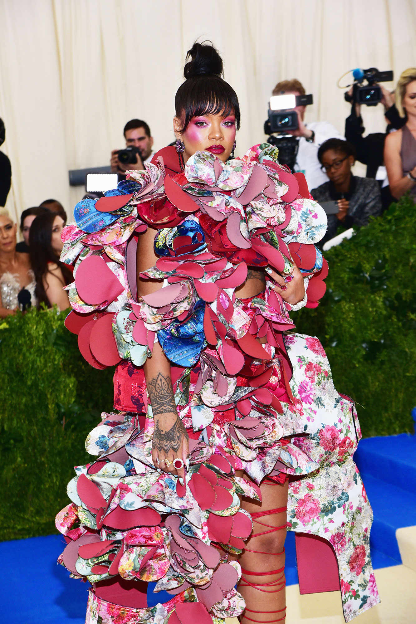 Rihanna The Wild Met Gala Red Carpet Fashion Looks We Can't Stop Thinking About - In Rei Kawakubo.