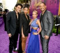Trey-Smith,-Jada-Pinkett-Smith,-Willow-Smith-and-Will-Smith-Aladdin-premiere-2