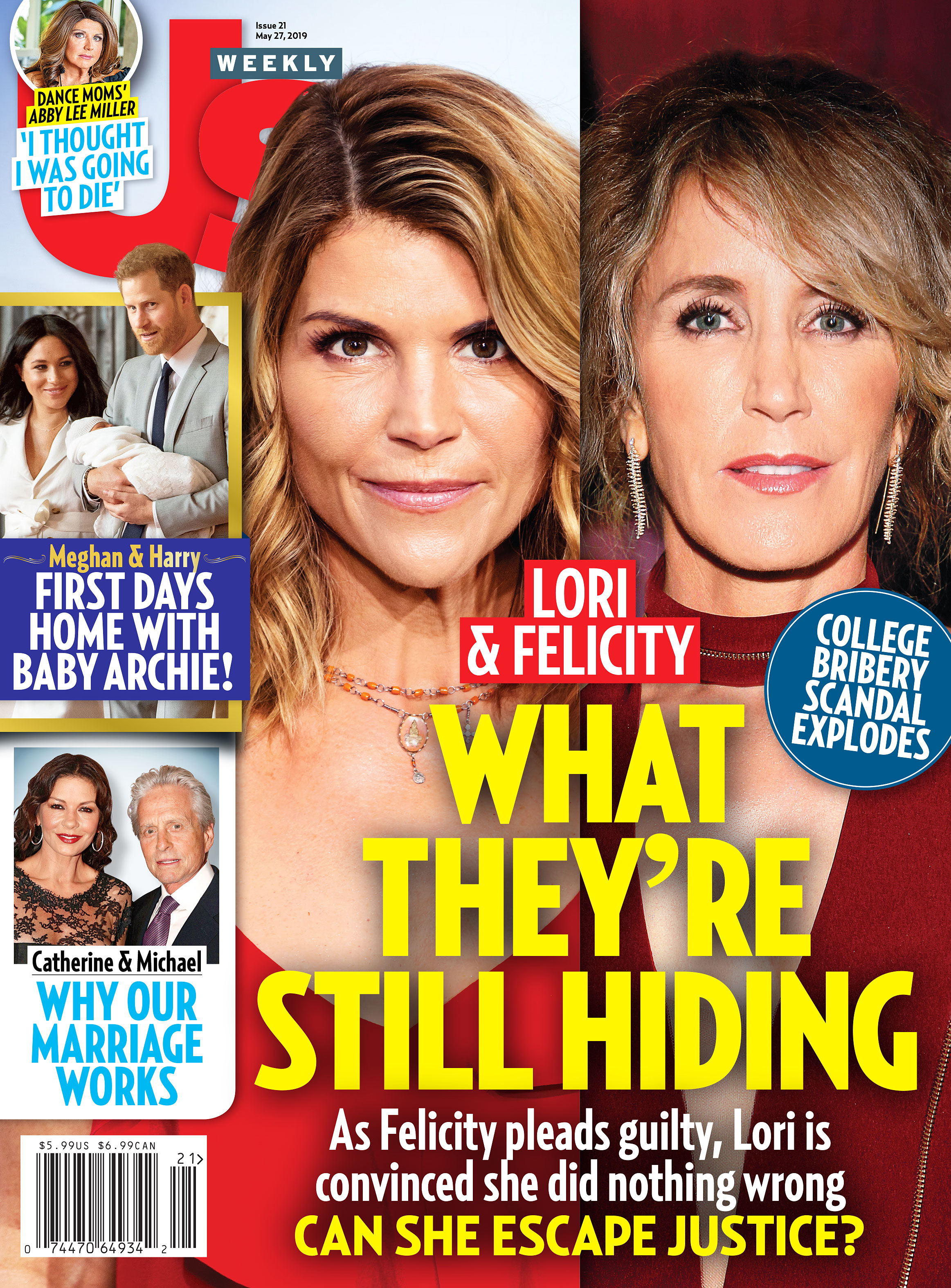 Us Weekly Cover 2119 Lori Loughlin Felicity Huffman