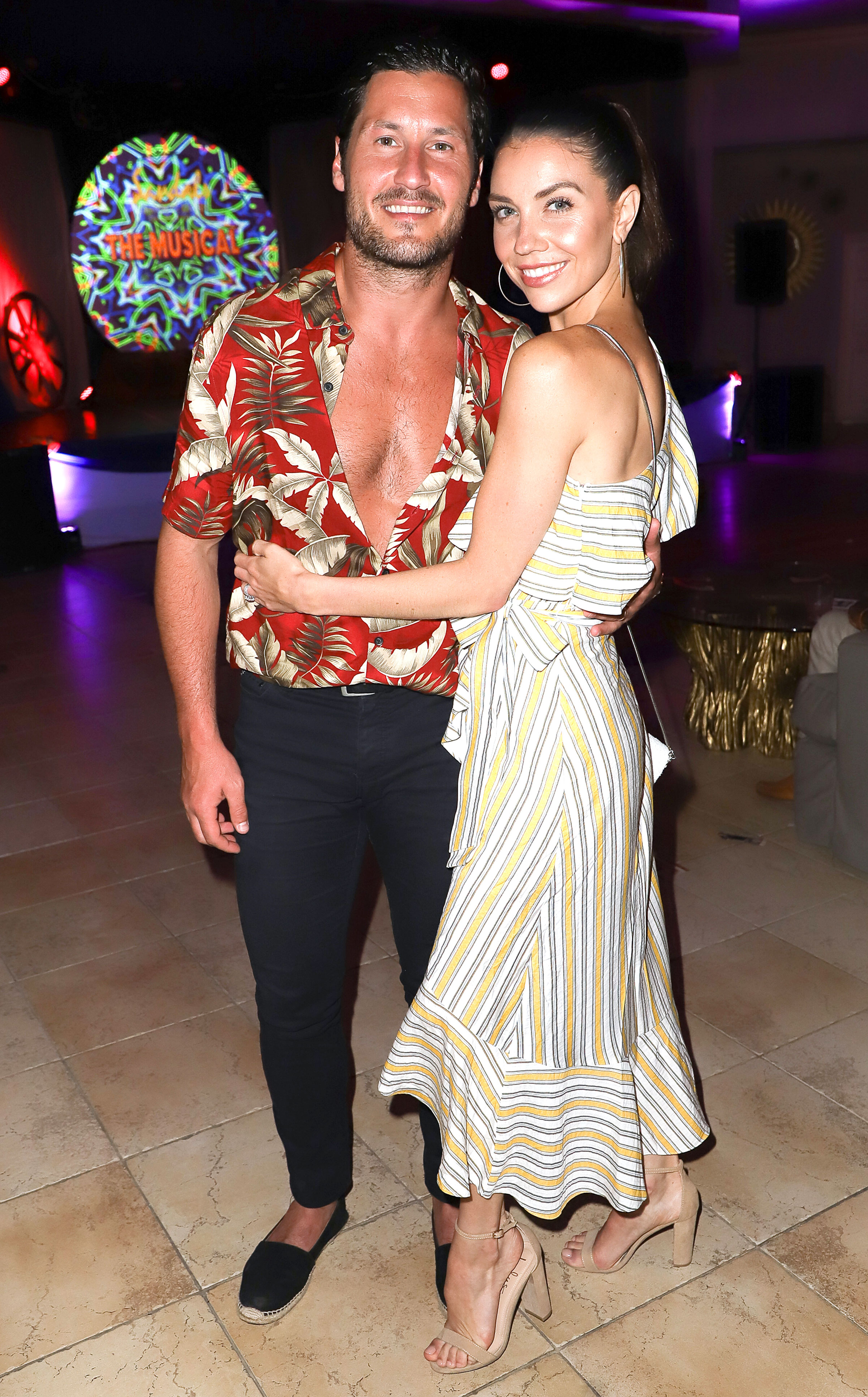 Val Jenna Chmerkovskiy Parents Met at Wedding - Val Chmerkovskiy and Jenna Johnson spend their honeymoon at the luxurious Sandals Grande St. Lucian resort on April 23, 2019 in St Lucia, Saint Lucia.