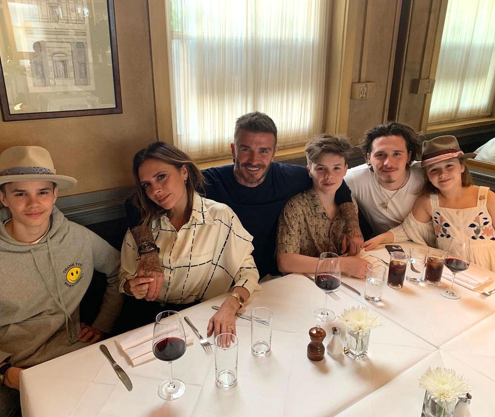 David Beckham Birthday Party - Beckham Family