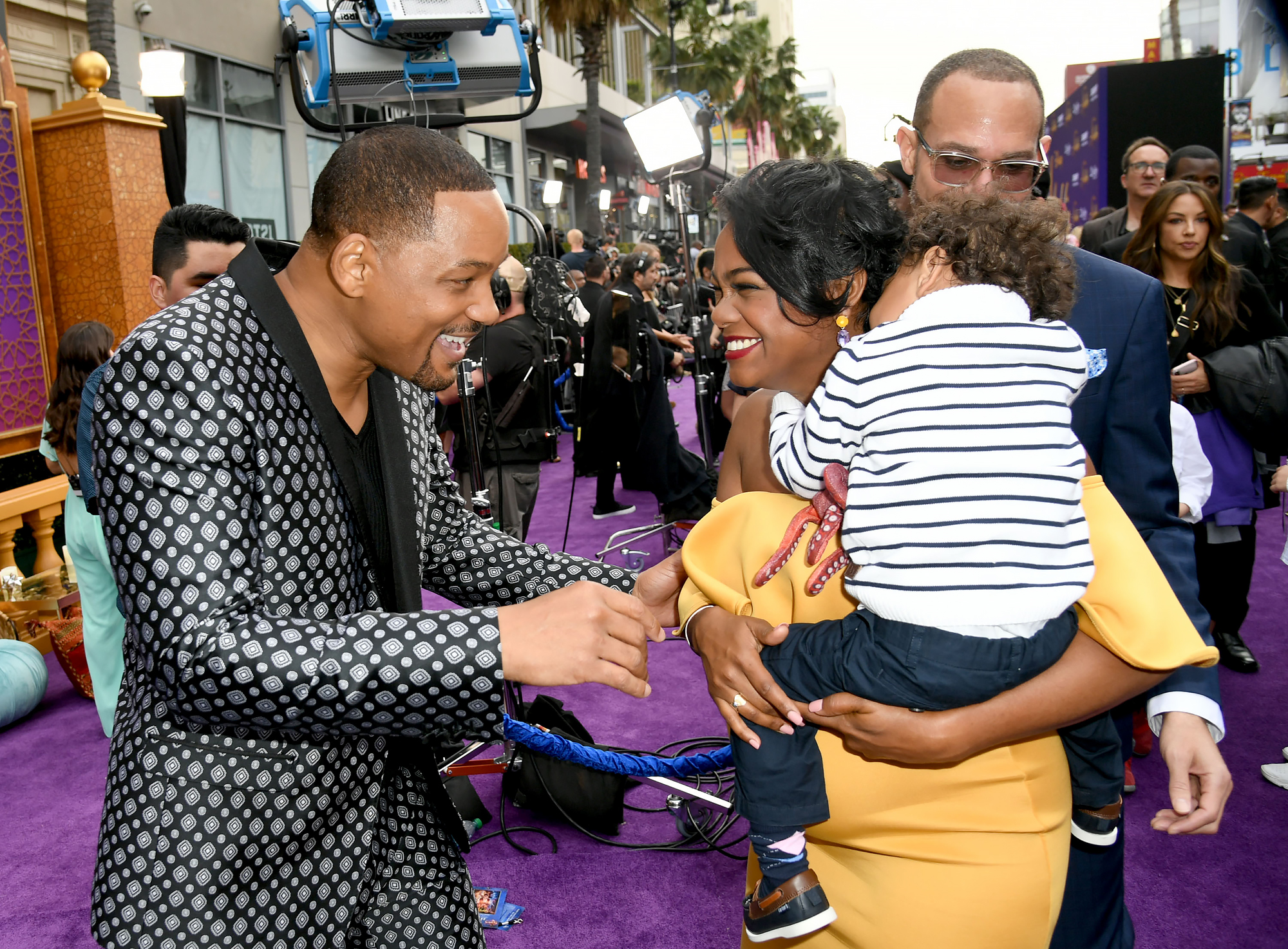 Will-Smith,-Tatyana-Ali-Aladdin-premiere - Tatyana Ali, who played Ashley Banks on Fresh Prince , also showed her support for Will. With reporting by Kayley Stumpe