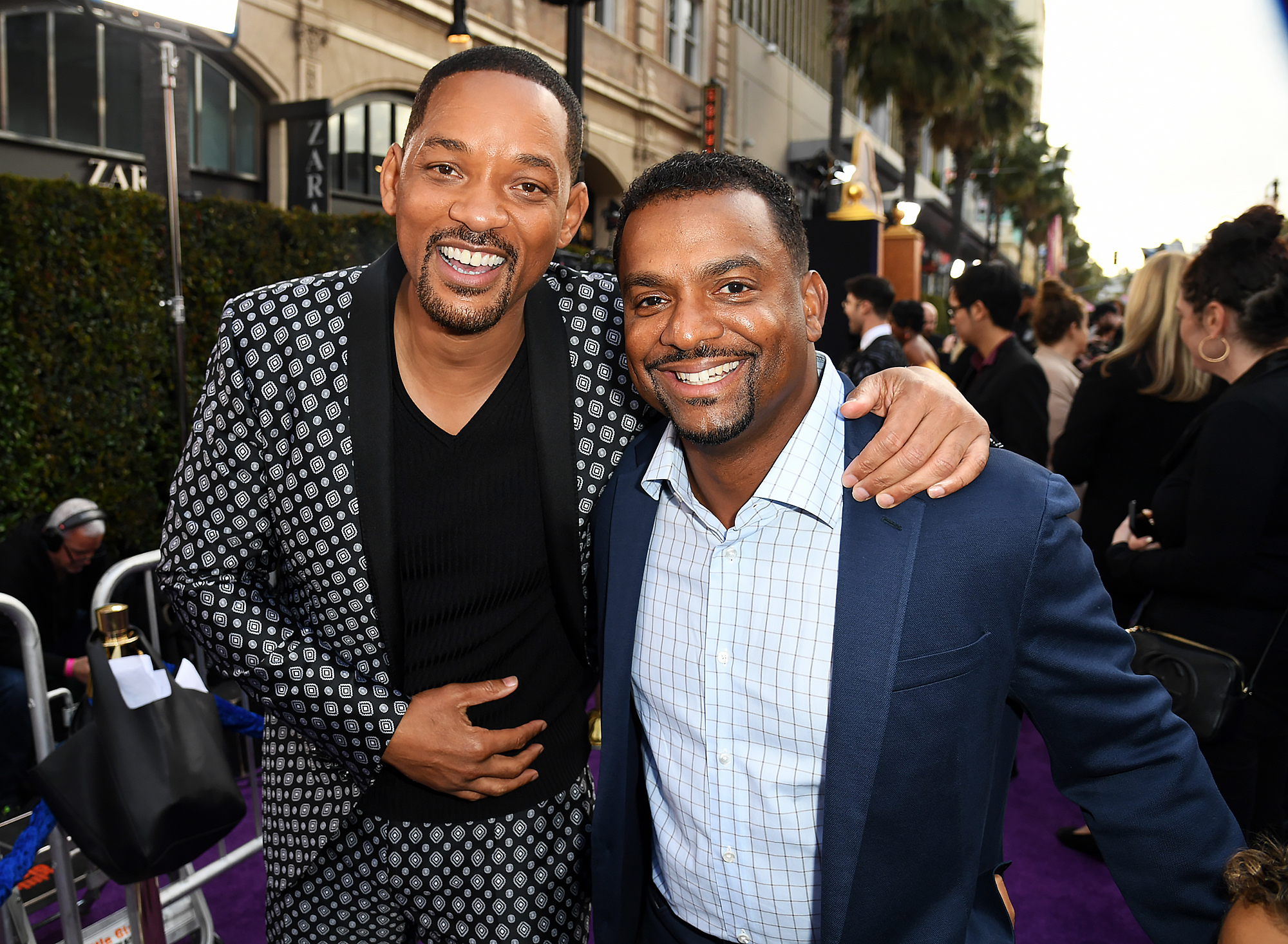 Will-Smith-and-Alfonso-Ribeiro-Aladdin-premiere - Will's former Fresh Prince of Bel-Air costar Alfonso Ribeiro attended the premiere with his 5-year-old son, Alfonso Jr.