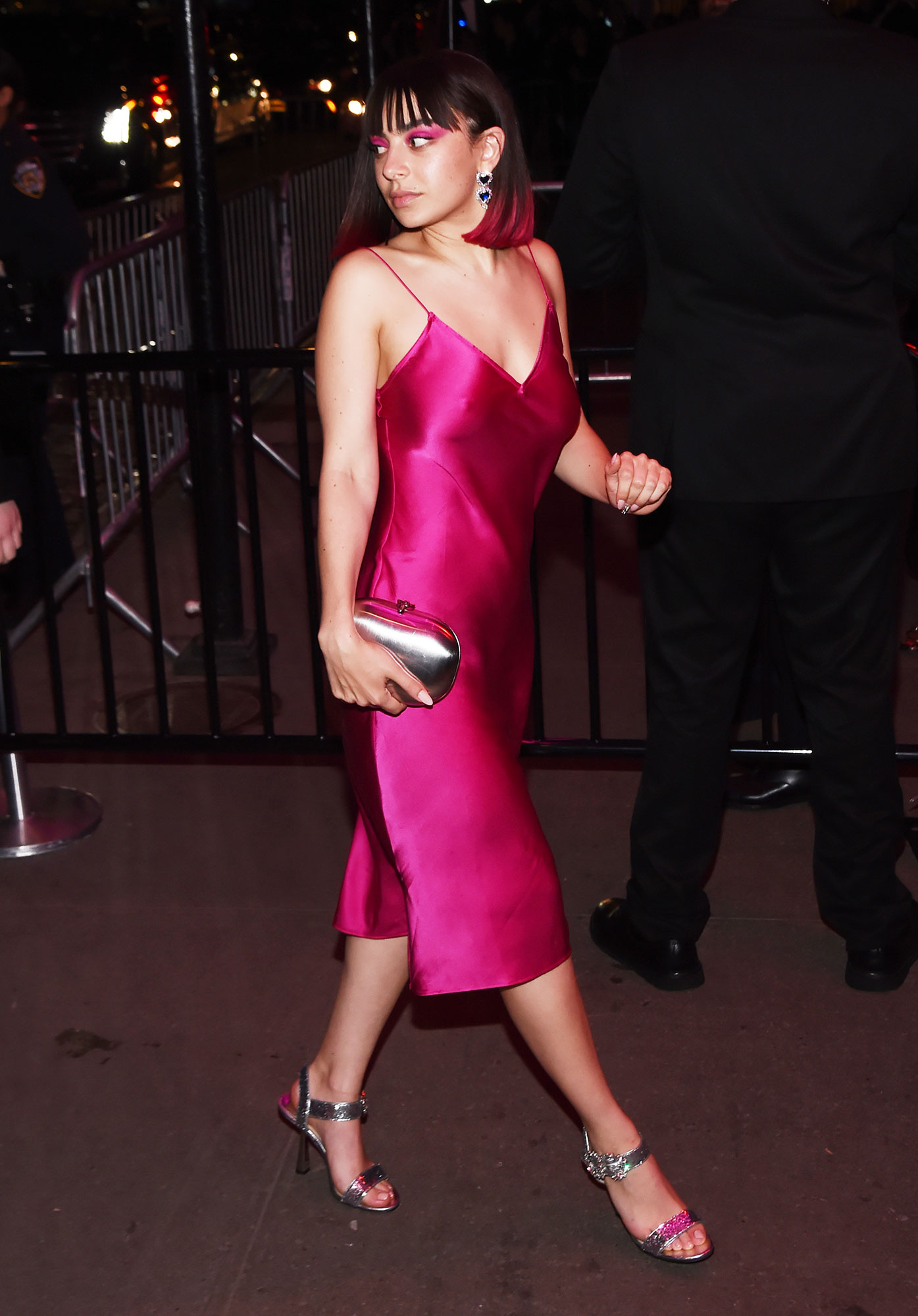"""Charli XCX after party met gala 2019 - The """"Boys"""" singer wore an adorable pink slip dress that looked all kinds of dance-floor ready."""
