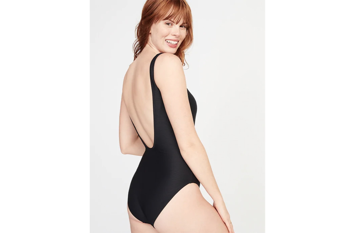 79c5e3868f This Bestselling One-Piece Swimsuit at Old Navy Is So Flattering