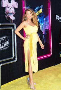 Blake Lively Debuts Her Baby Bump With Bouncy Curls and Glowing Makeup at the 'Pokémon Detective Pikachu' Premiere