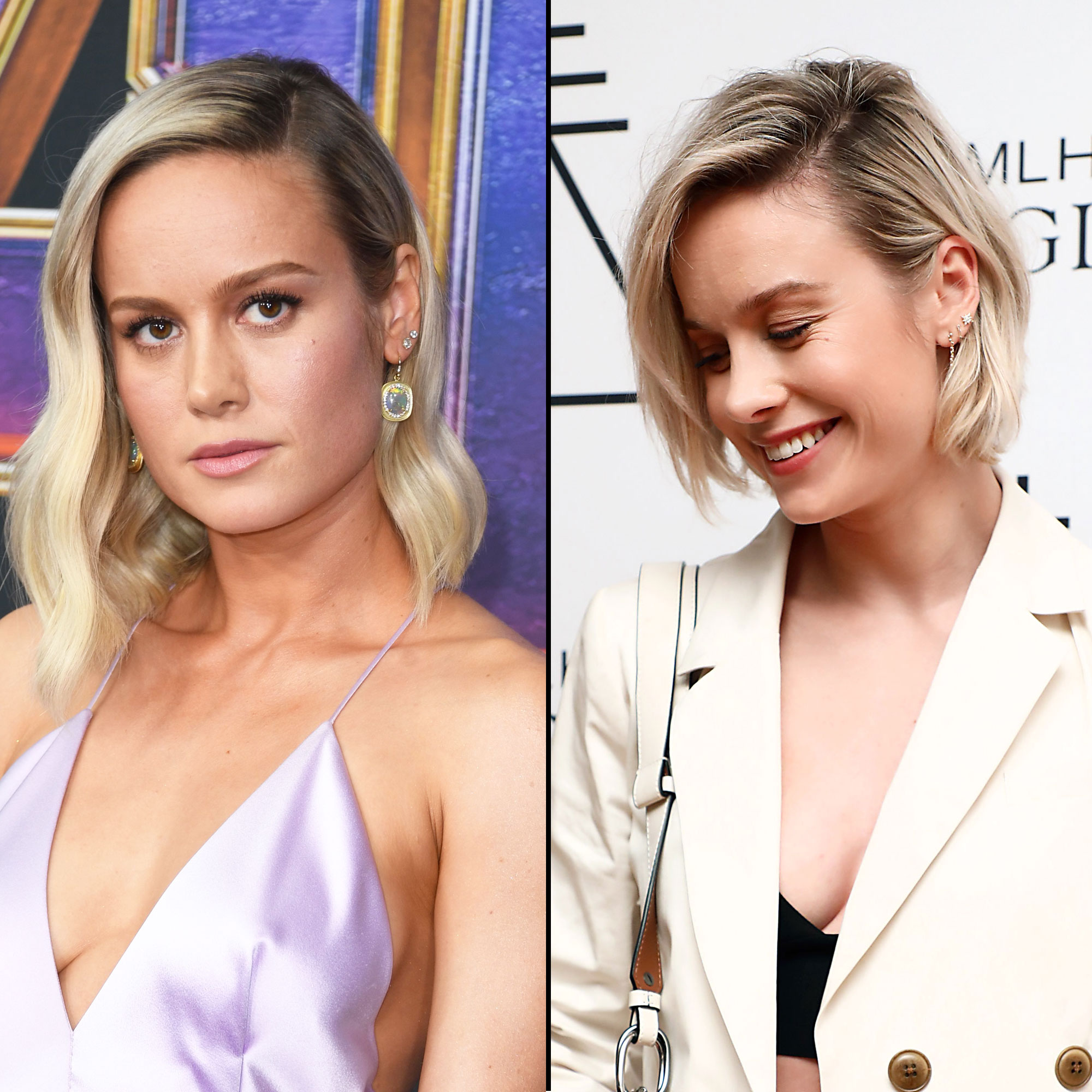 Brie Larson hair transformation - The Captain Marvel star showed off her freshly chopped bob at the MLH Sigil Fragrance launch party on April 30.