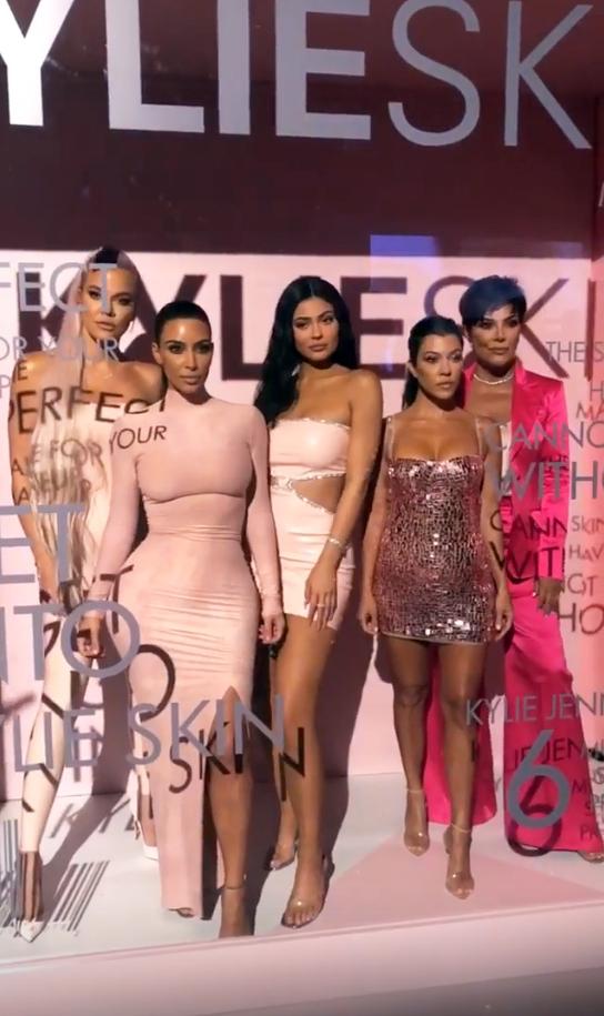 kylie skin launch party Caitlyn Jenner Kylie Jenner Kourtney Kardashian Khloe Kardashian Kim Kardashian Kris Jenner