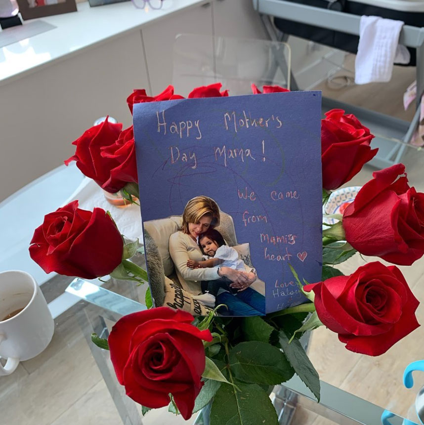 """celebrity mothers day 2019 Hoda Kotb - """"Melting,"""" the TV personality wrote alongside a homemade card."""