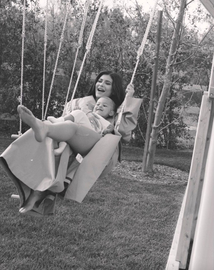 celebrity mothers day 2019 Kylie Jenner - The Lip Kit maven not only celebrated being a mom of her 14-month-old daughter, Stormi, whom she shares with boyfriend Travis Scott , but also her dog, Bambi. Jenner spent the day outside playing with her little girl and pup.