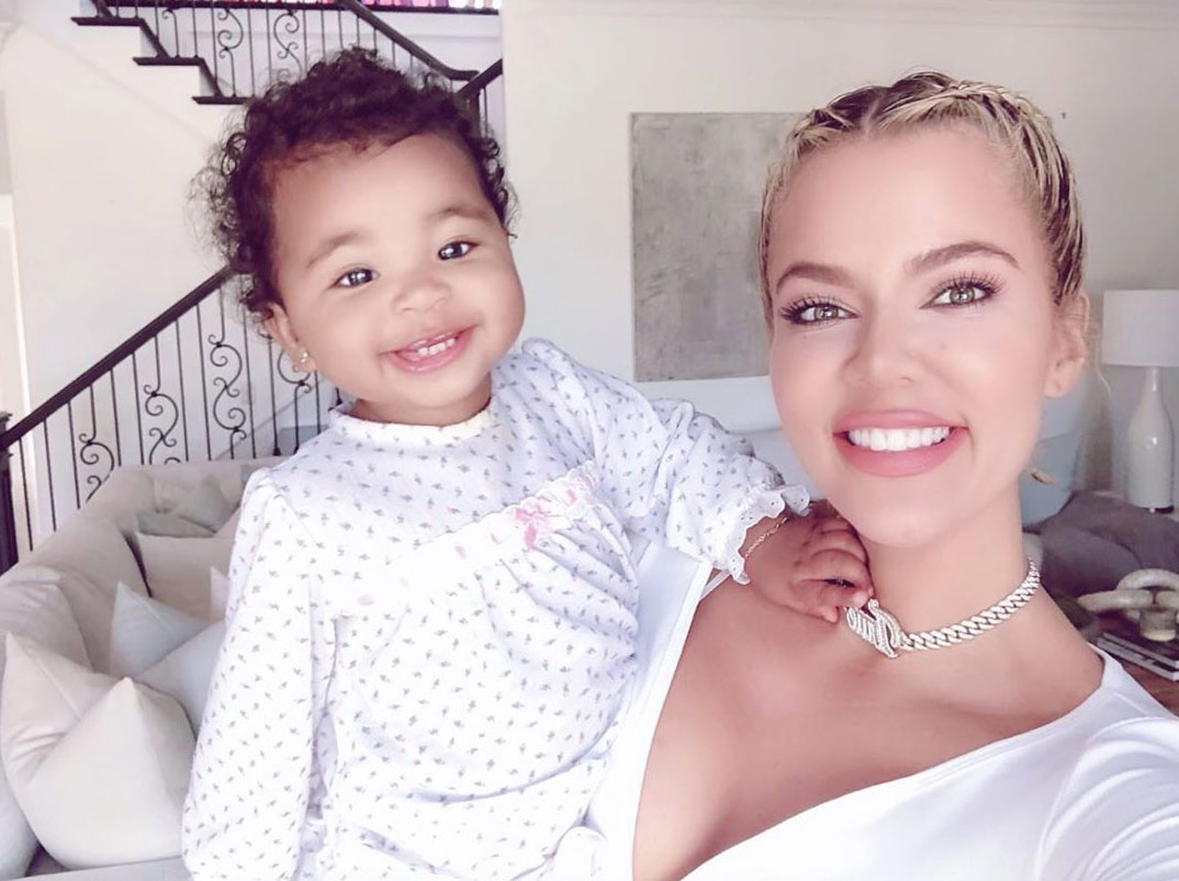 """celebrity mothers day 2019 Khloe Kardashian - The Good American founder enjoyed a morning full of selfies with her 13-month-old daughter, True. """"It's Mothers Day!!! Happy Mother's Day,"""" she wrote alongside one."""