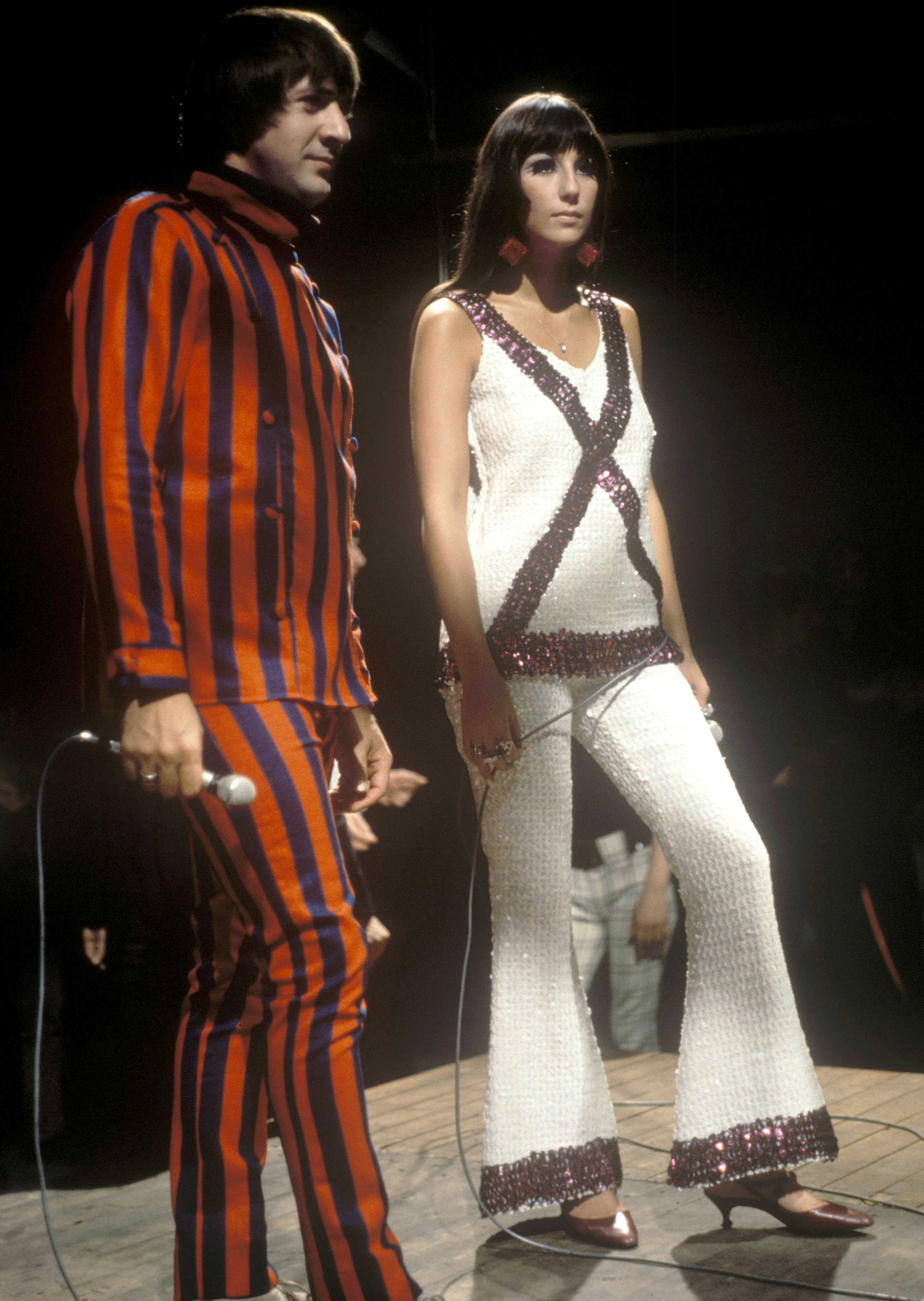 Cher Through The Years - After dropping out of high school and moving to Los Angeles, the El Centro, California, native met and fell in love with Sonny. They traveled to England and found moderate success before releasing their debut album, Look at Us , in August 1965.