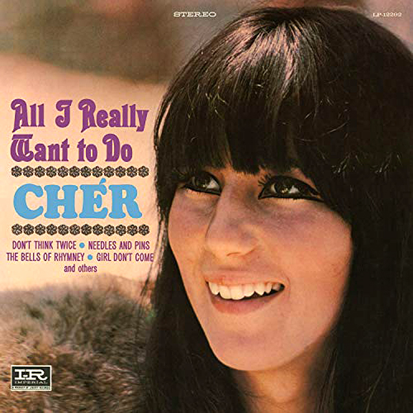 """Cher Through The Years - Cher released her debut solo album, All I Really Want to Do , which featured covers of three Bob Dylan songs: the title track, """"Blowin' in the Wind"""" and """"Don't Think Twice, It's All Right."""""""