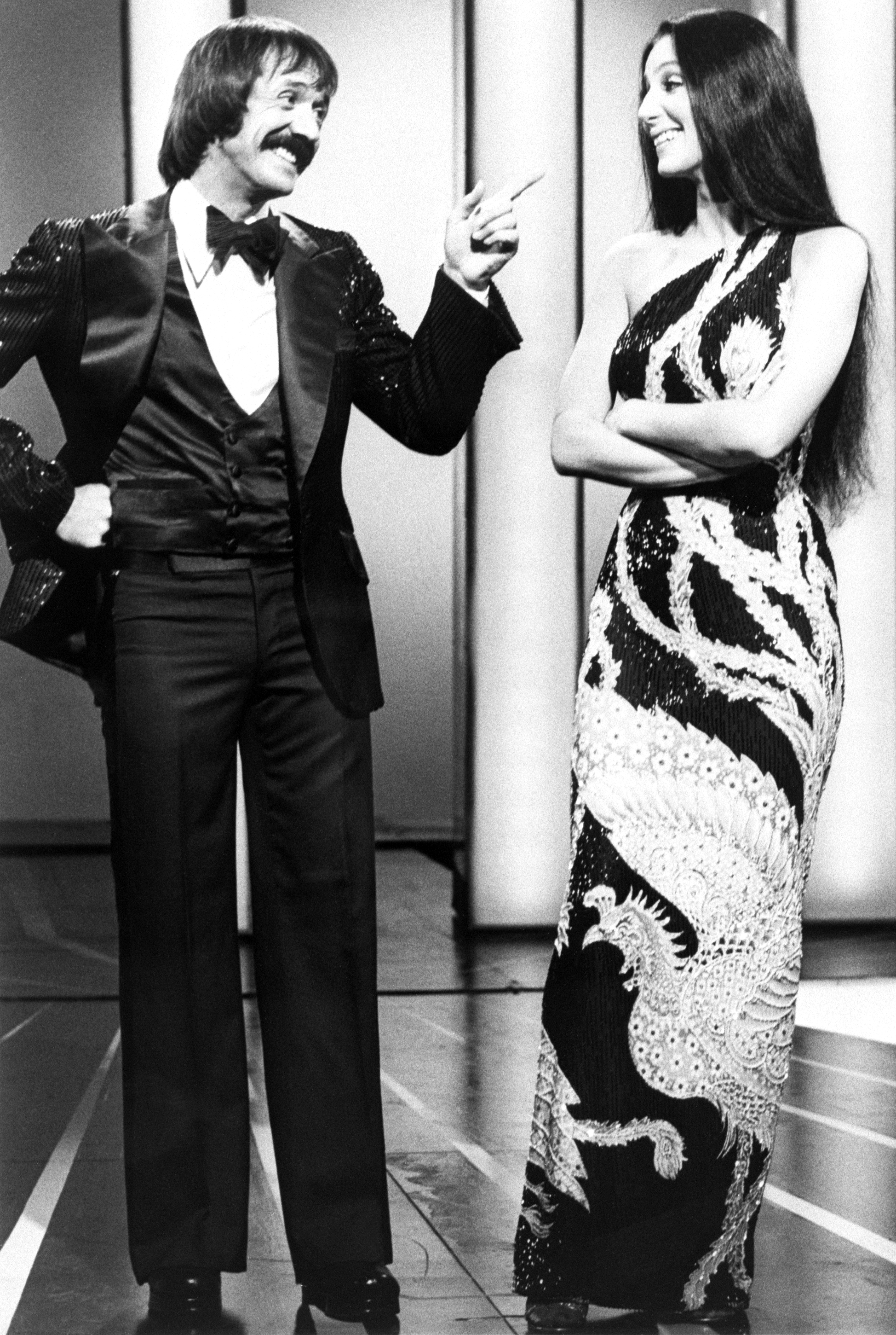 Cher Through The Years - The Sonny & Cher Comedy Hour premiered on CBS and ran for four seasons, concluding in May 1974. The variety show featured the pair singing and doing comedy sketches, often with Chaz in tow.