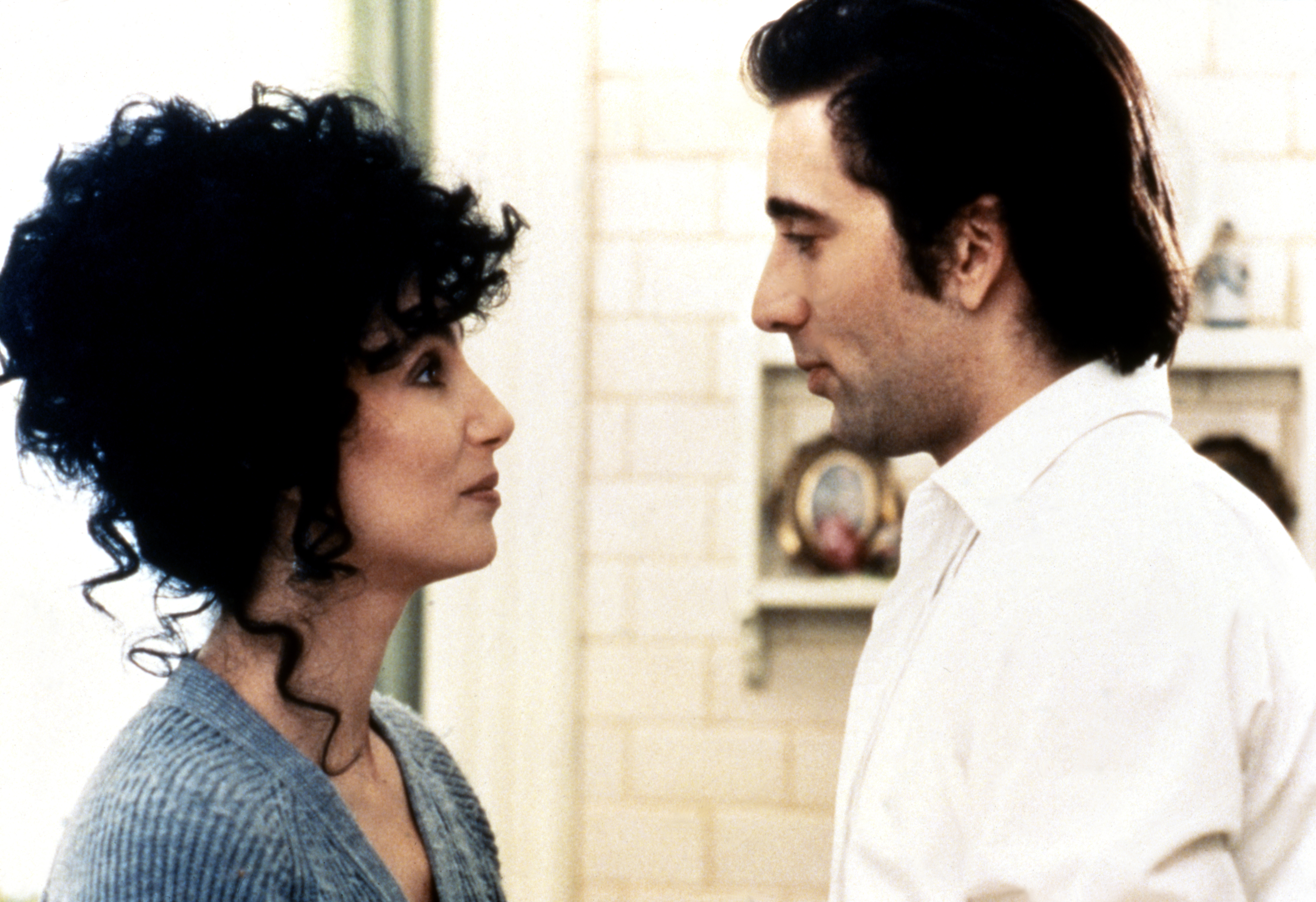 Cher Through The Years - Cher received critical acclaim for her role in Moonstruck opposite Nicolas Cage , which earned her the Oscar for best actress.