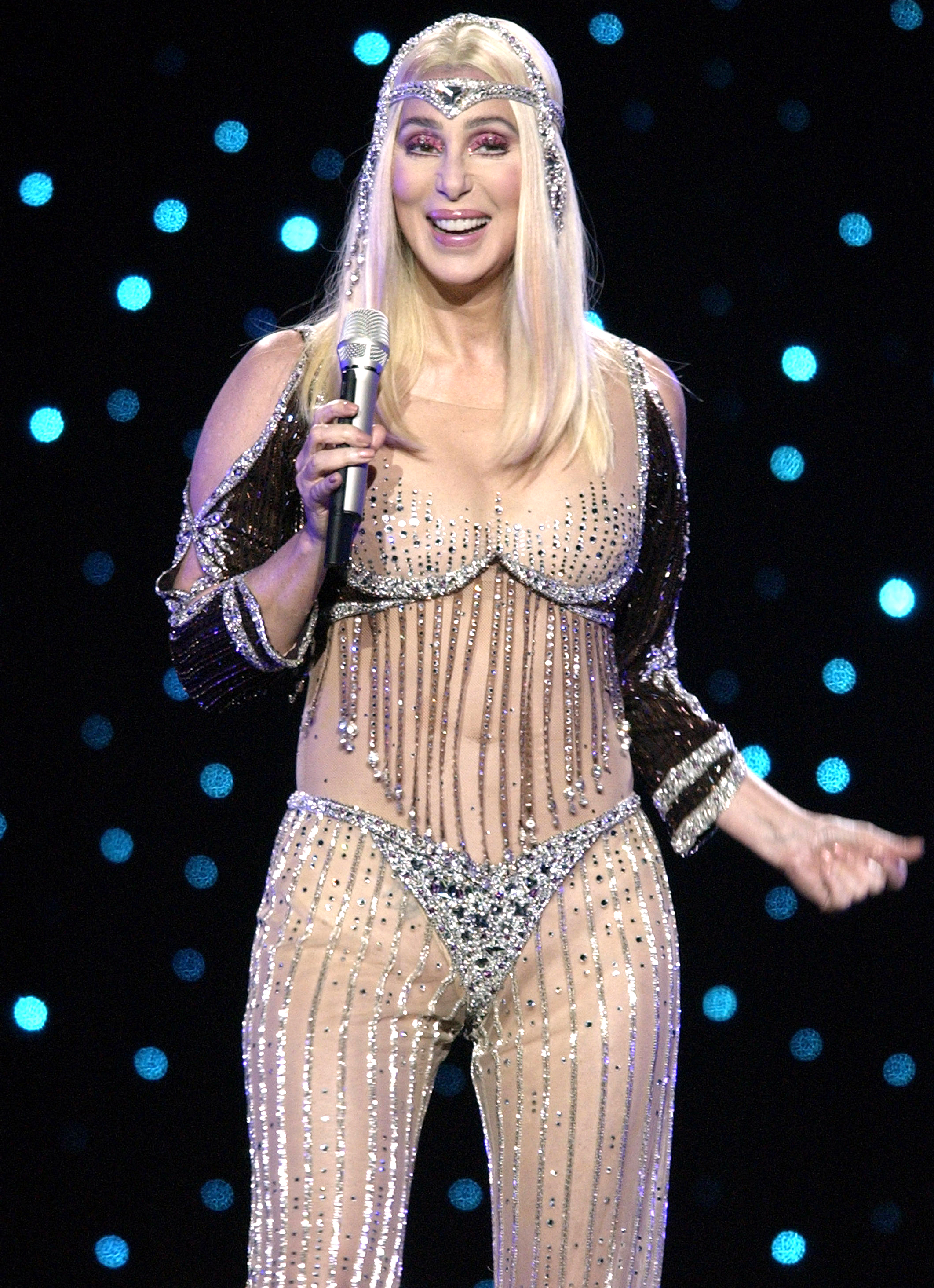 """Cher Through The Years - Cher in Concert with her """"Living Proof Farewell Tour"""" in New York City Cher (Photo by KMazur/WireImage)"""