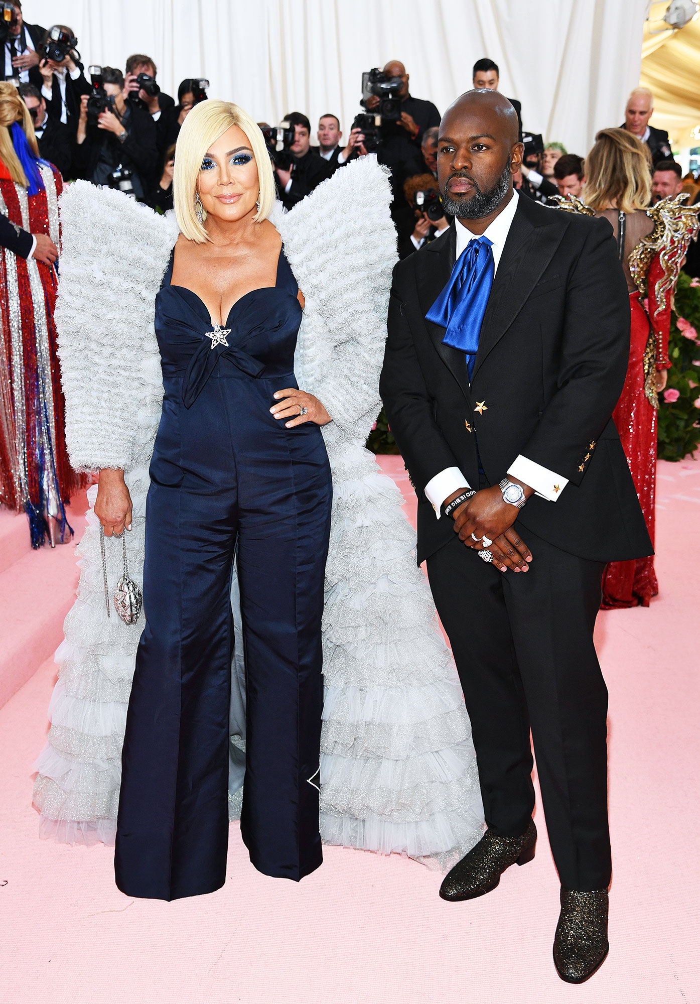 Kris Jenner and Corey Gamble met gala 2019 couples - Stars were a recurring theme on the momager and her SO's celestial-inspired Tommy Hilfiger ensembles.