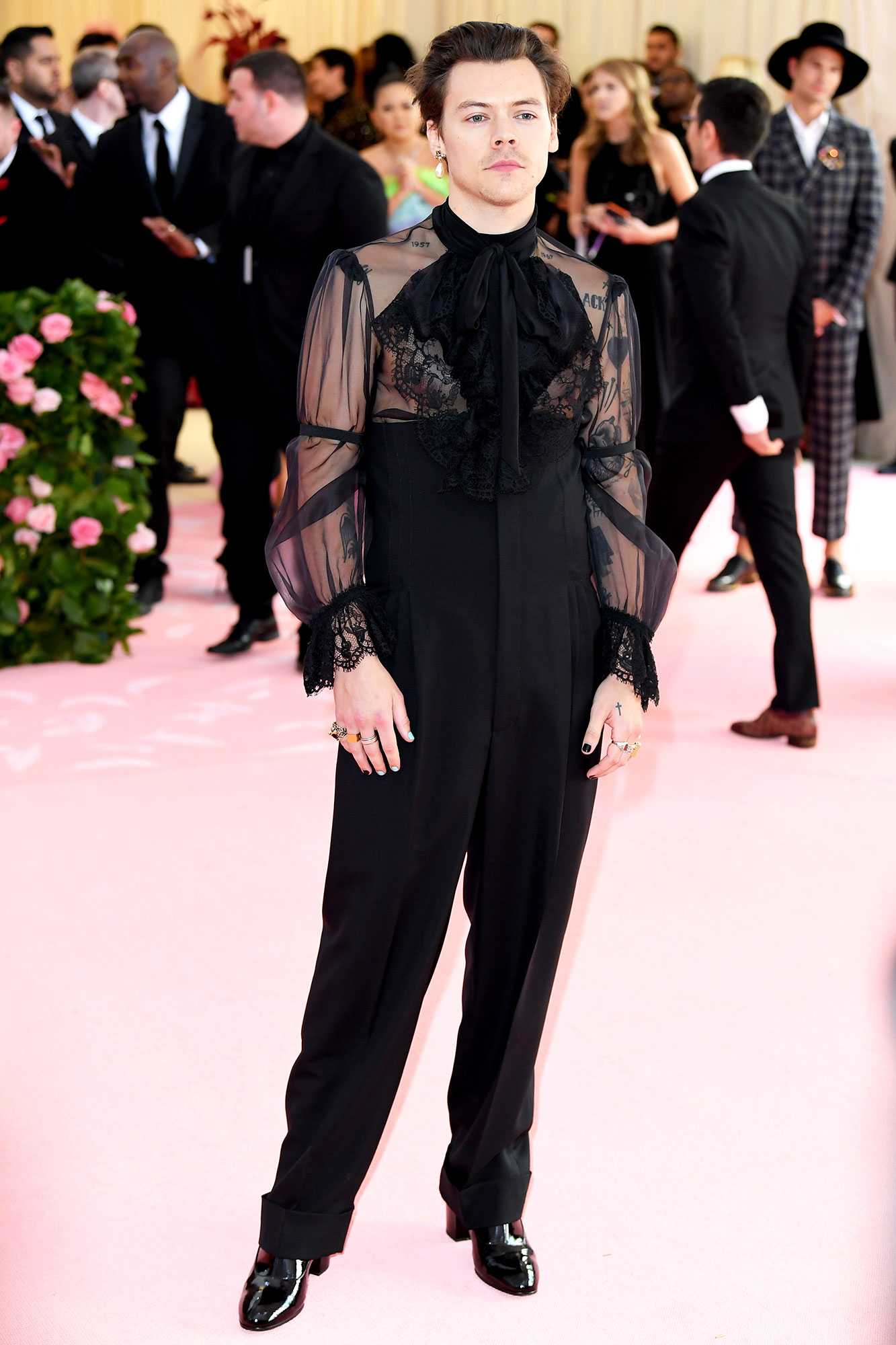 Harry Styles Got His Ears Pierced for the Met Gala - Harry Styles attends The 2019 Met Gala Celebrating Camp: Notes On Fashion at The Metropolitan Museum of Art on May 06, 2019 in New York City.