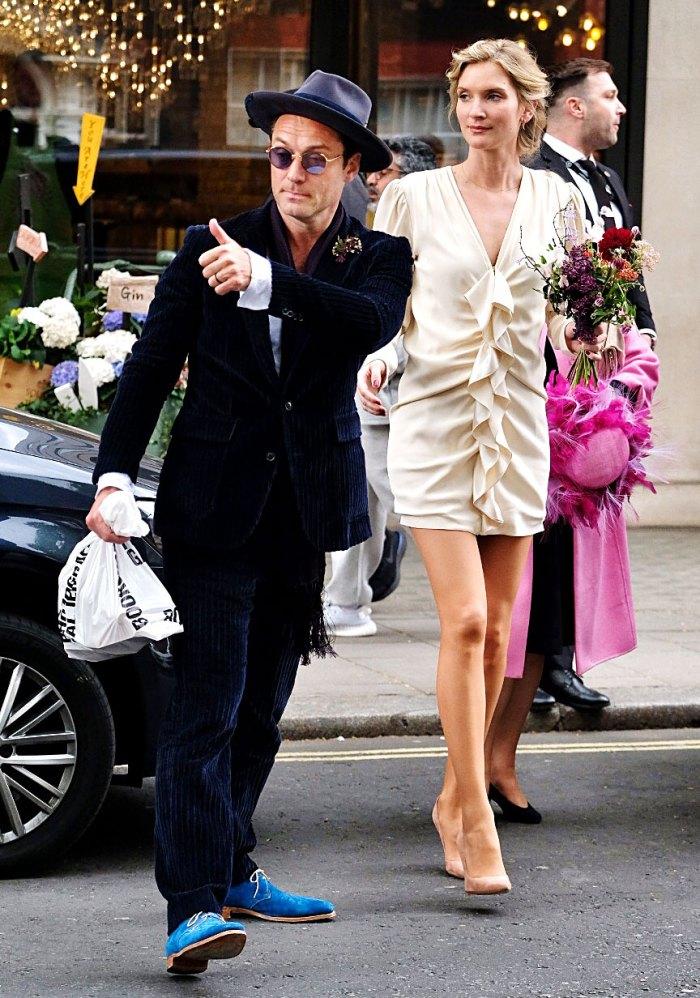Jude Law Marries Girlfriend Phillipa Coan In Low Key London Wedding Us Weekly