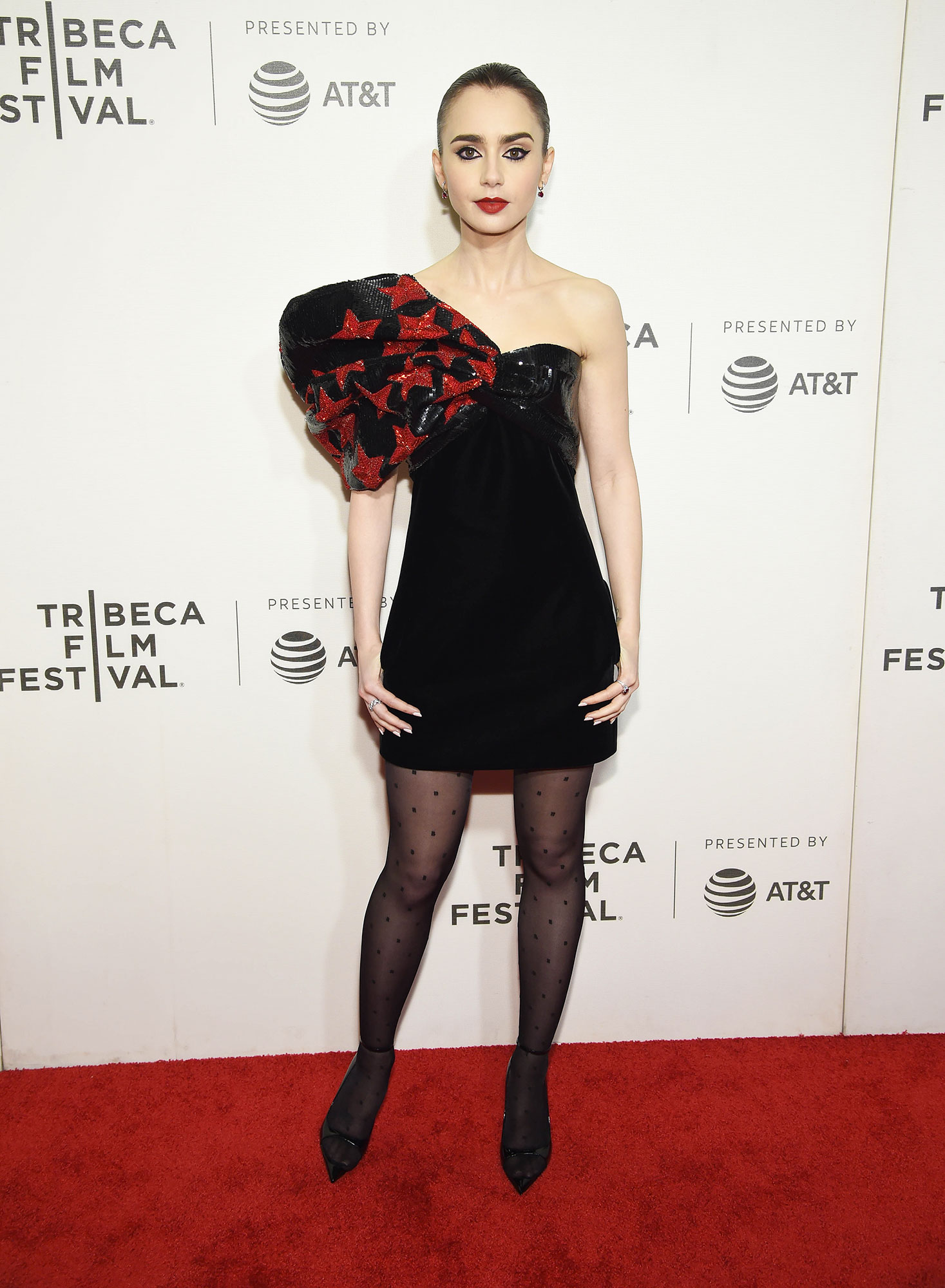 """Lily Collins and More Stars up Their Style Game at Tribeca Film Festival - Lilly Collins attends """"Extremely Wicked, Shockingly Evil And Vile"""" – 2019 Tribeca Film Festival at BMCC Tribeca PAC on May 02, 2019 in New York City."""