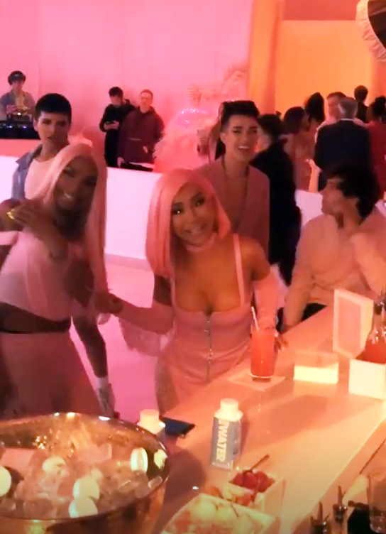 kylie skin launch party nikita dragun james charles - YouTube star James Charles shrugged off his feud with Tati Westbrook and attended the fun roller-skating bash. YouTube beauty gurus Nikita Dragun and Gabriel Zamora were also at the event.