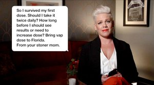 Pink Reads Hilarious Text Stoner Mom