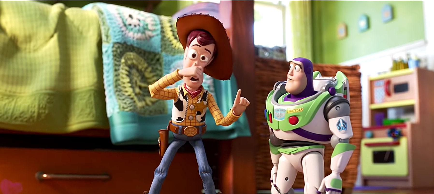 """Can't Miss Summer Movie Preview - Grab your tissues and follow your favorite toys on their fourth adventure. Tim Allen , who's been voicing Buzz Lightyear since 1995, tells Us he """"had trouble"""" getting through the script."""