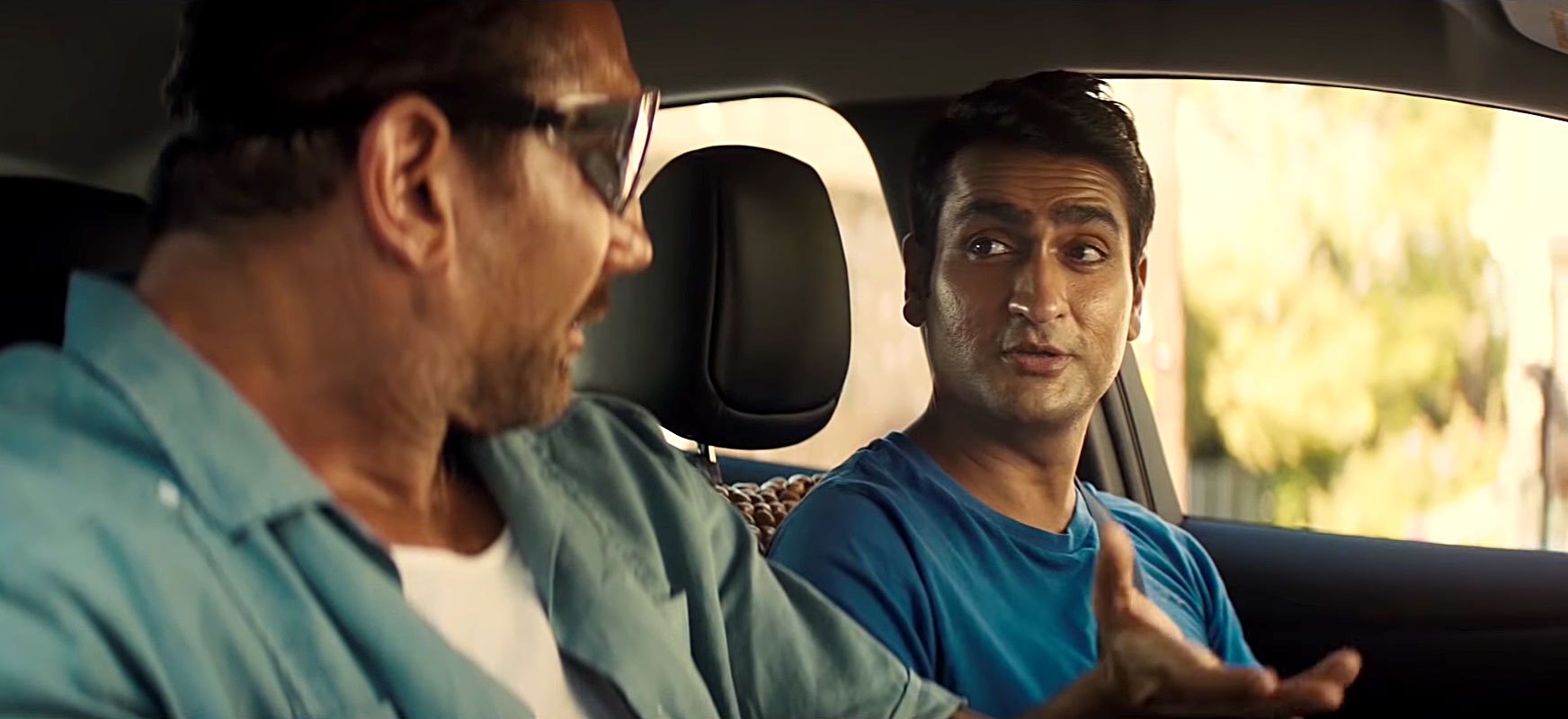 """Can't Miss Summer Movie Preview - """"I found myself laughing aloud when I read the script,"""" says Dave Bautista , who plays detective Vic in the comedy. Kumail Nanjiani (Uber driver Stu) tells Us there was a ton of improv on set, which didn't always work: """"We ruined a lot of takes by laughing!"""" (July 12)"""