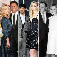 Kelly Ripa, Mark Consuelos, Joe Jonas, Sophie Turner, Frank Sinatra, and Mia Farrow veags wedding