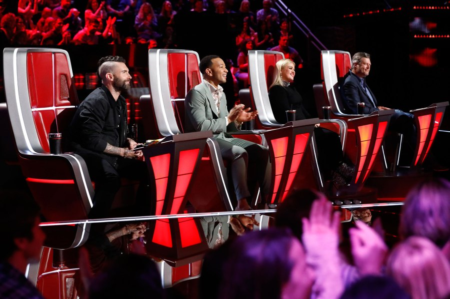 Adam Levine, John Legend, Kelly Clarkson, Blake Shelton The Voice