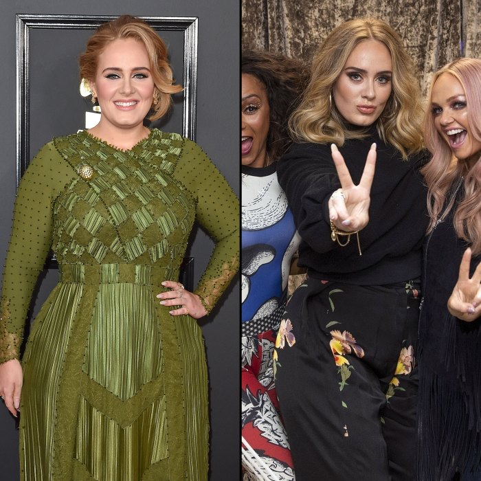 Adele Before and After With Spice Girls