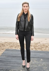 Amber Heard Saint Laurent Mens Show