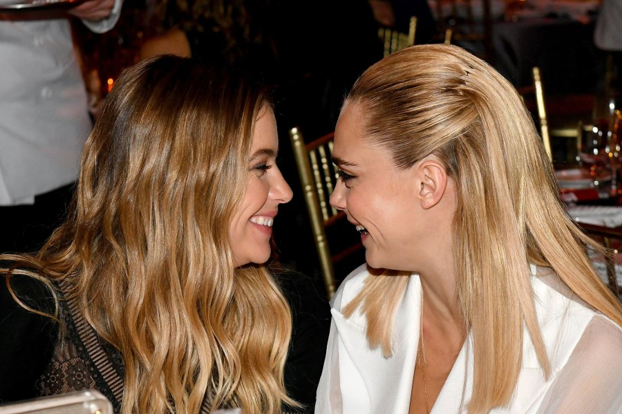 Ashley Benson and Cara Delevingne Show PDA Smile and Laugh