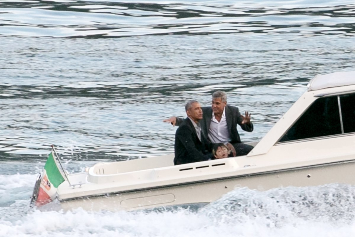 Barack, Michelle Obama Hang With George, Amal Clooney in Italy: Pics