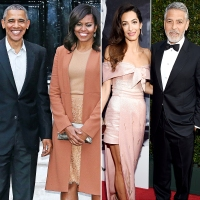 Barack Obama Michelle Obama Hang With George Clooney Amal Clooney Lake Como