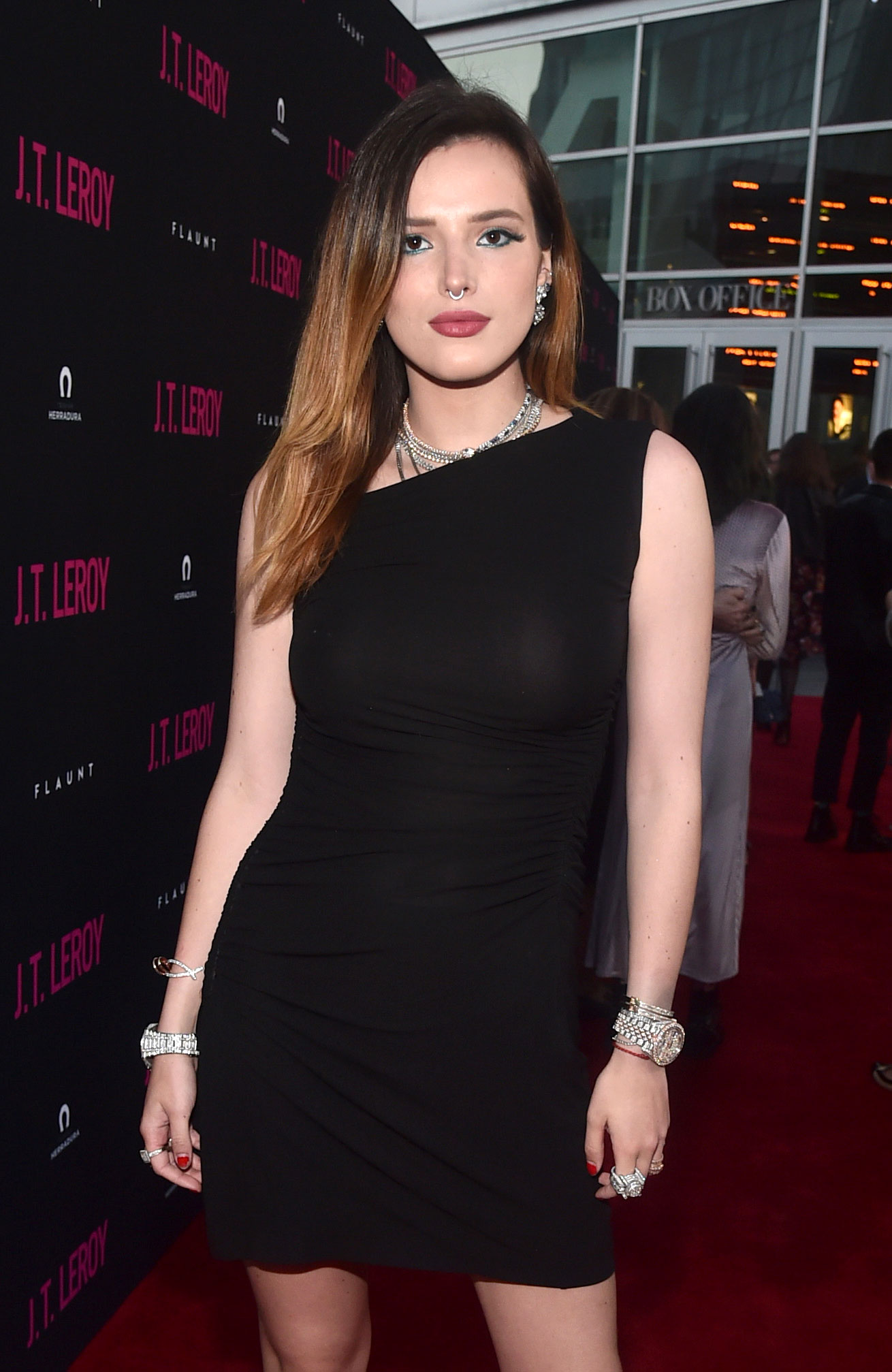 "Bella Thorne Says Police Are 'Getting Closer' to Finding Hacker After Nude Photo Ordeal Black Dress LA premiere of Universal Pictures' ""J.T. Leroy"" - Bella Thorne attends the LA premiere of Universal Pictures' ""J.T. Leroy"" at ArcLight Hollywood on April 24, 2019 in Hollywood, California."