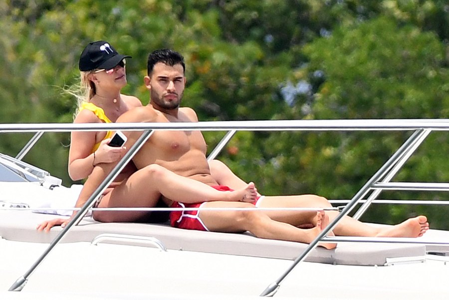 Britney Spears Admits She Has To Work 'Really Hard' to Lose Weight Yacht Sam Asghari Miami