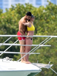 Britney Spears and Sam Asghari Recreate Titanic