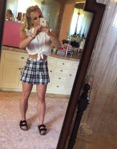 Britney Spears Schoolgirl Outfit Instagram