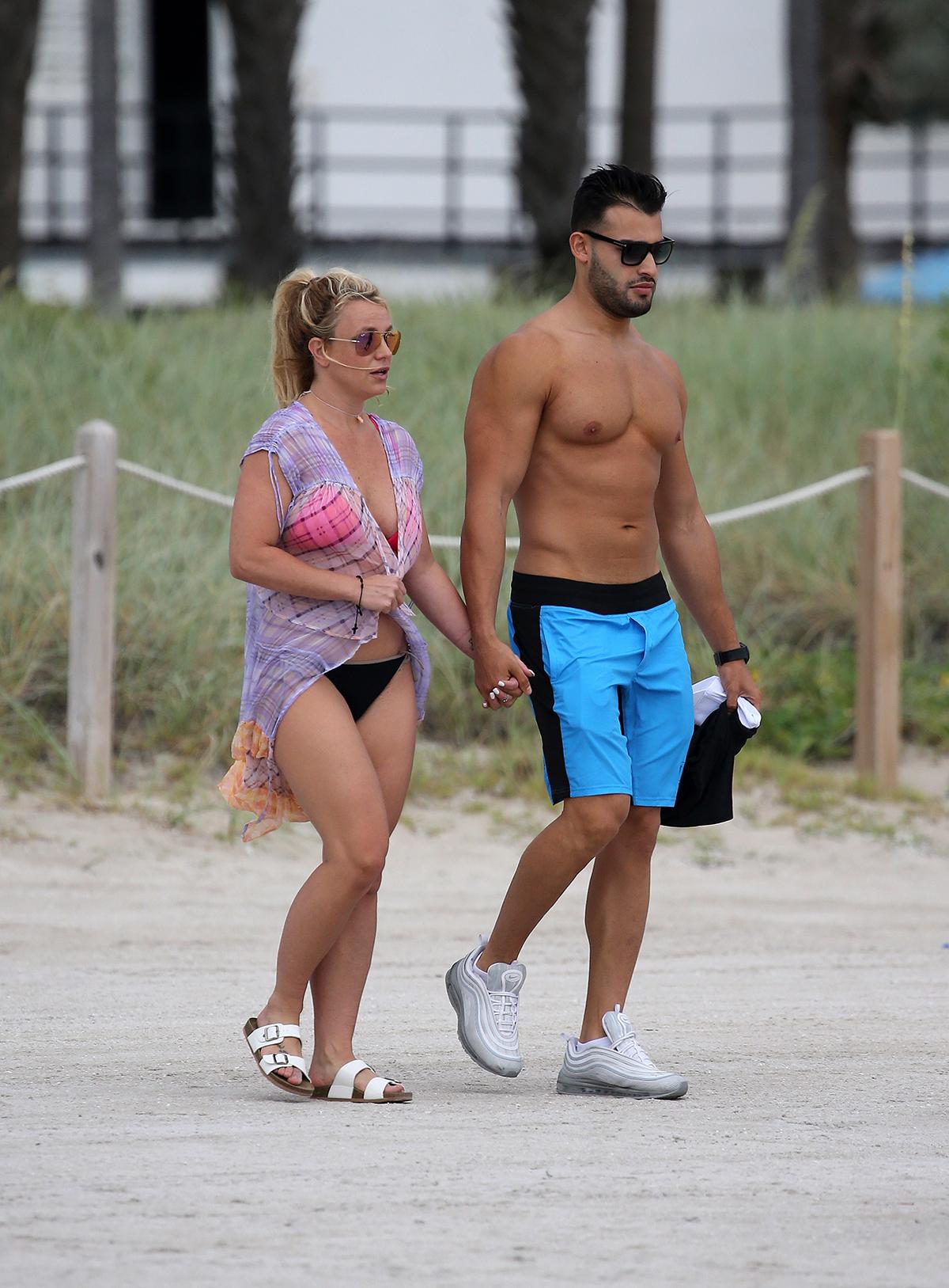 Britney Spears on Beach
