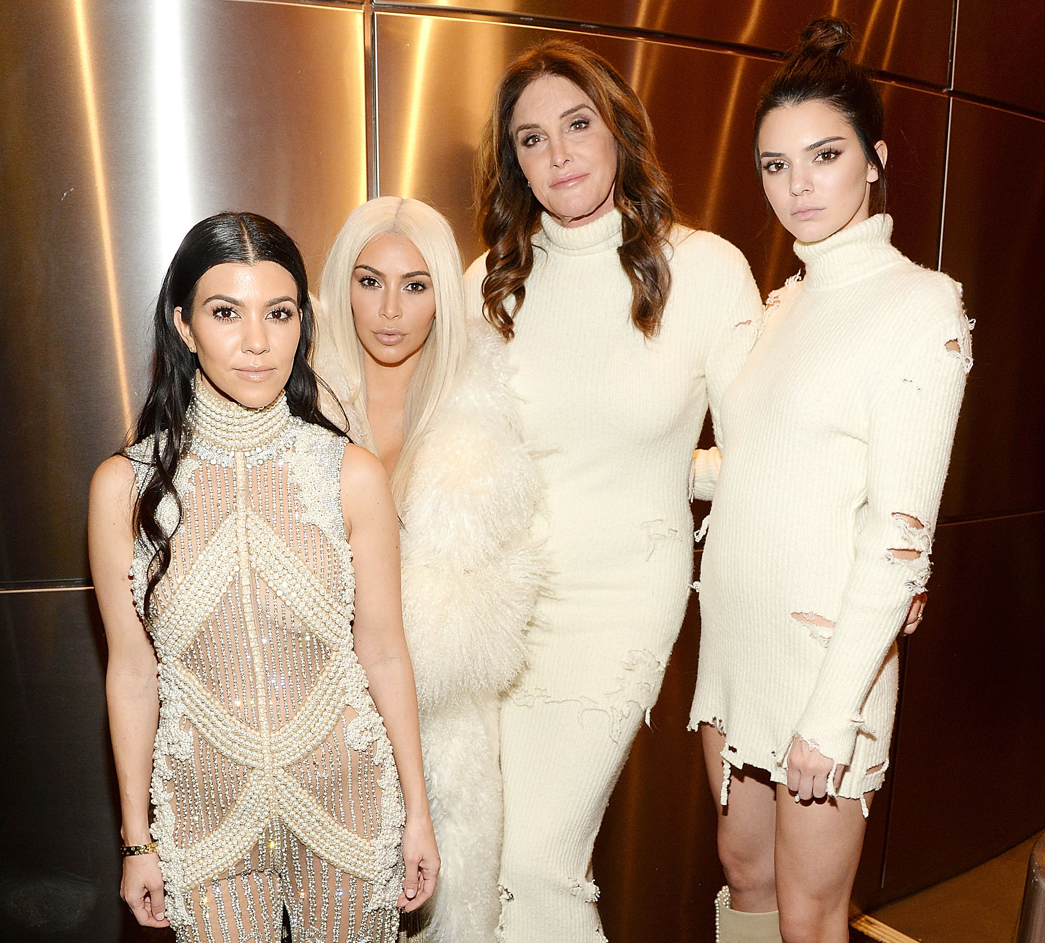 Kourtney Kardashian Kim Kardashian Kendall Jenner Caitlyn Jenner at Kanye West Yeezy Season 3 Seemingly Shades Tristan Thompson Fathers Day 2019
