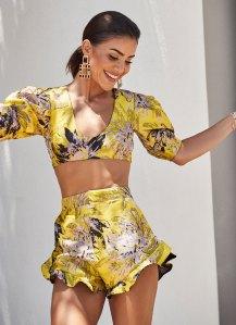 Camila Coelho Revolve Campaign Floral Two-Piece