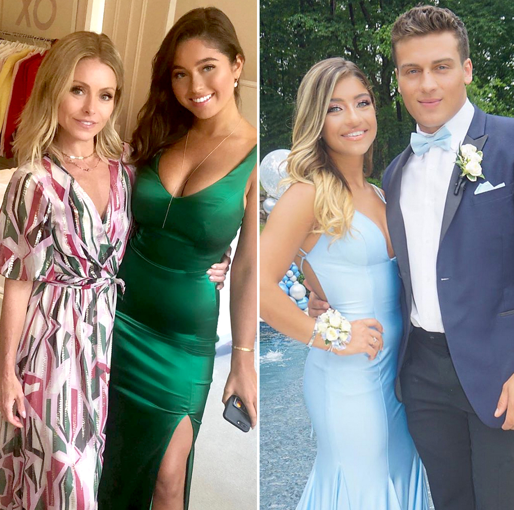Celeb-Proms-2019 - Going glam! Celebrity parents, including Kelly Ripa and Jerry Seinfeld , are showing off their teenagers' 2019 prom looks on social media.
