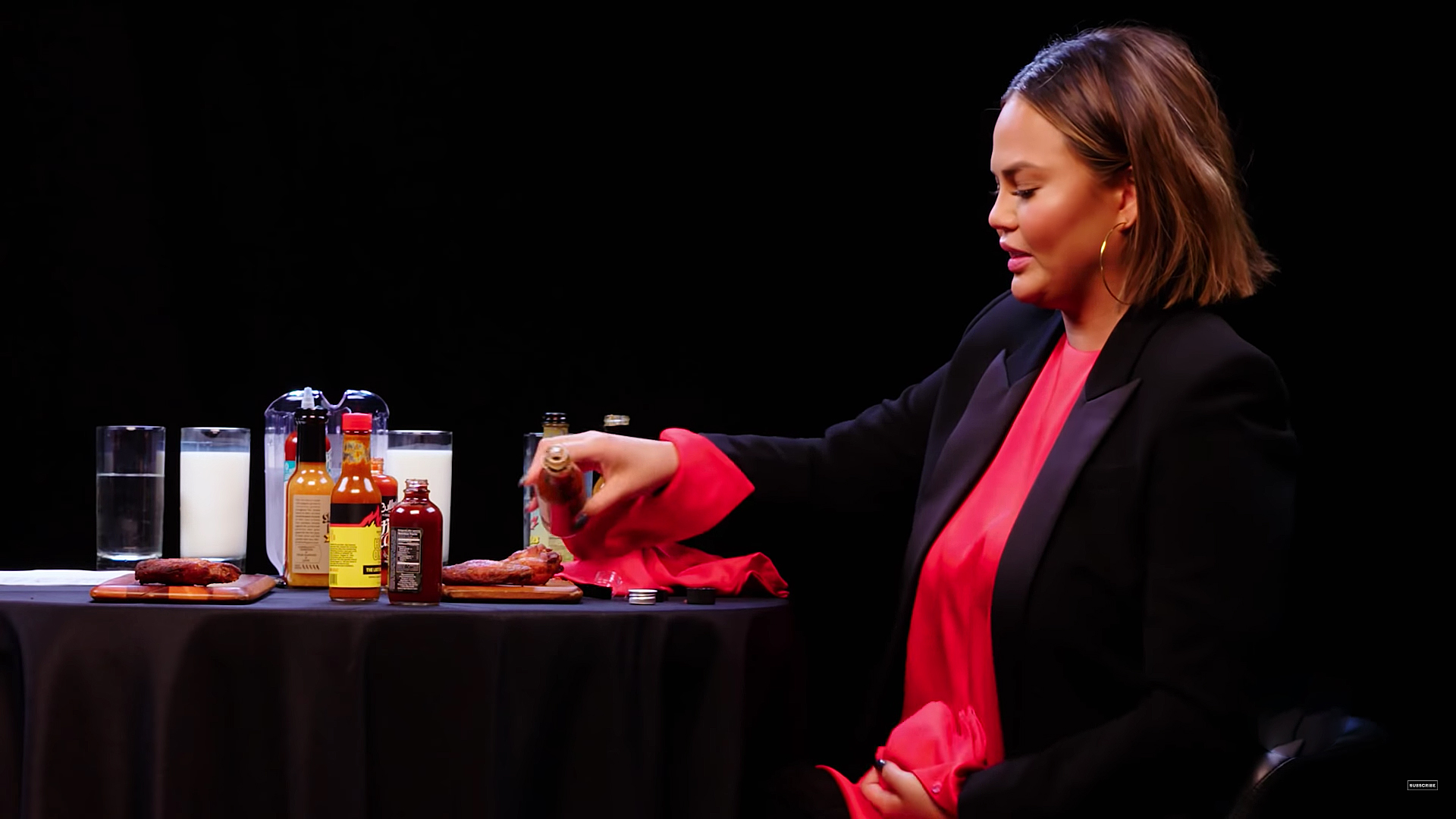 Yikes! Chrissy Teigen Had to Go to the Hospital After Filming 'Hot Ones' thumbnail