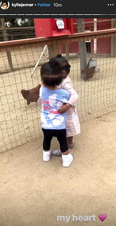 Cutest Kardashian Kids Moments Stormi giving her cousin True a big hug