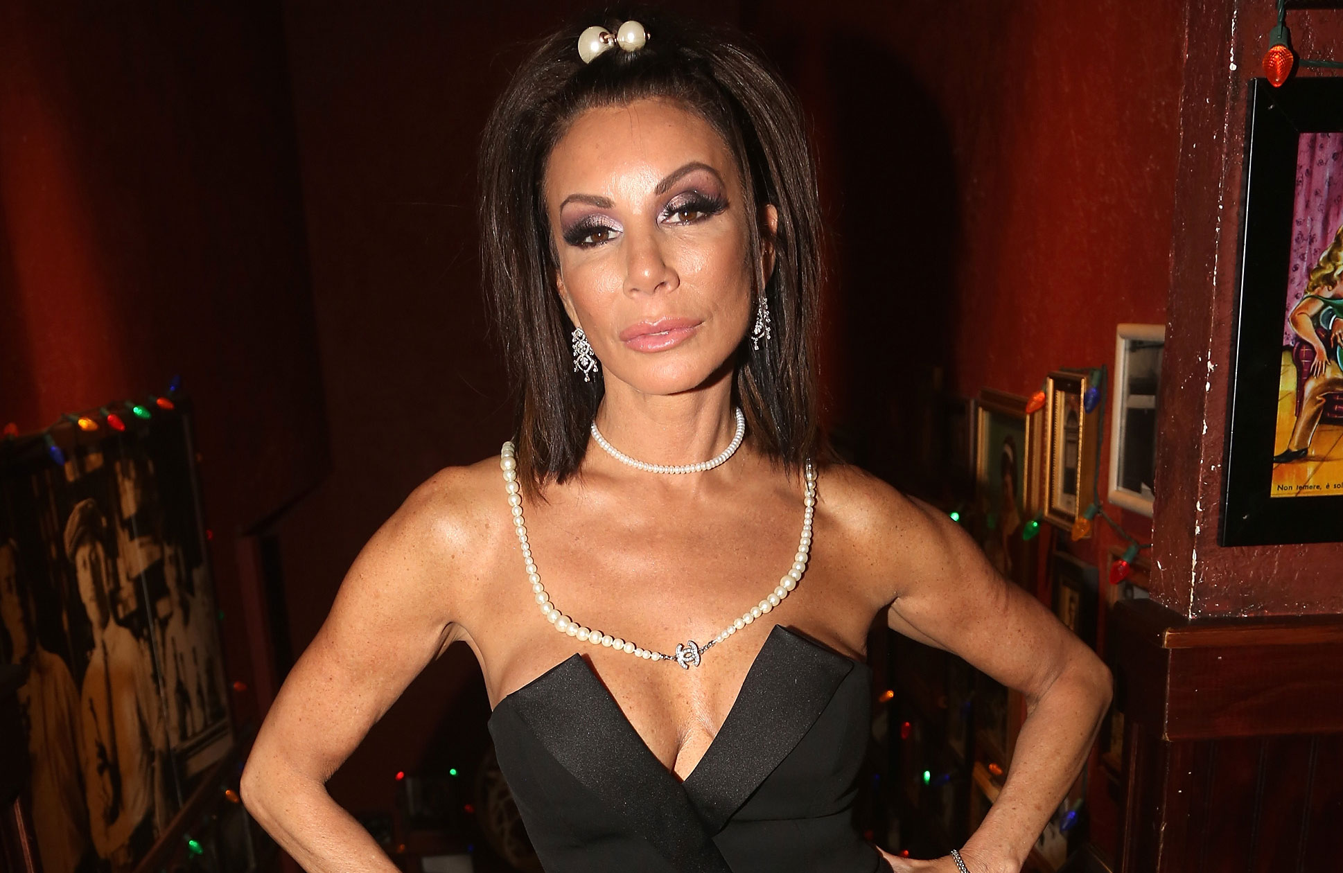 "Danielle Staub Opens Up About Depression Battle It's 'Not a Joking Matter visits Buca di Beppo Times Square - Bravo's ""The Real Housewives of New Jersey's"" Danielle Staub poses as she visits Buca di Beppo Times Square on November 30, 2018 in New York City."