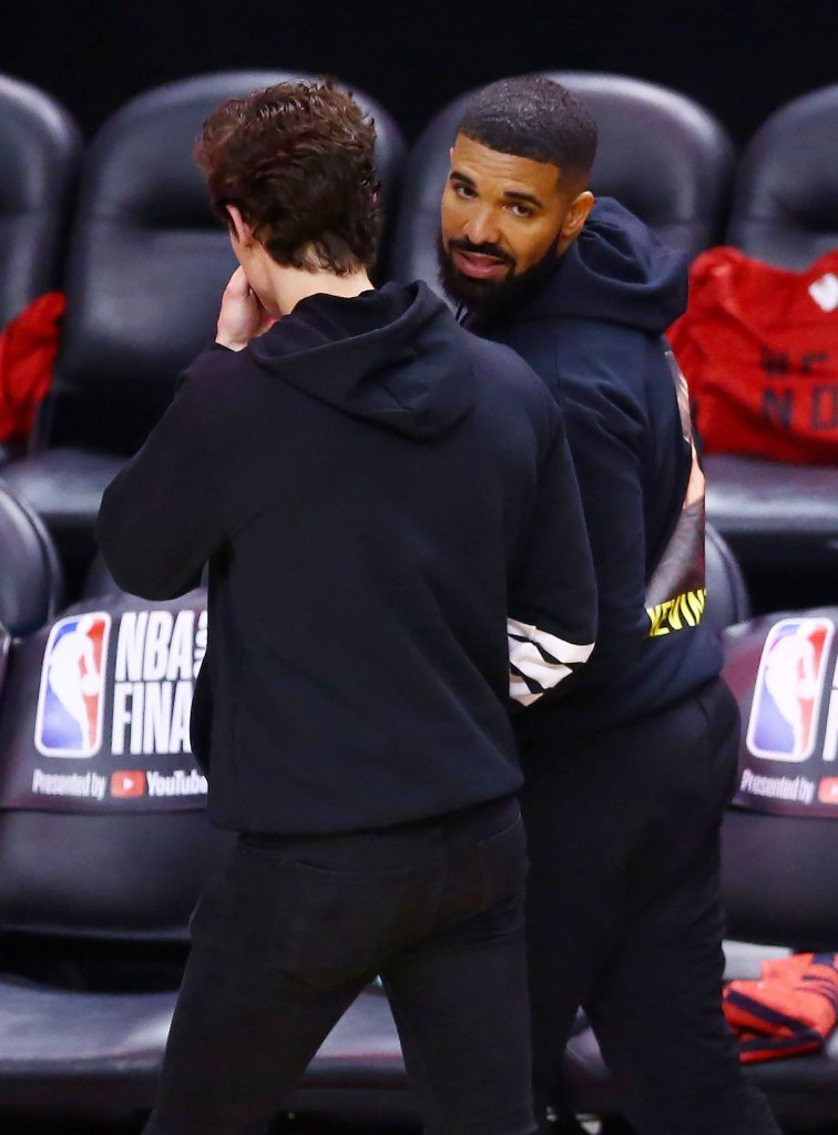 Drake Wears Home Alone Shirt At NBA Finals