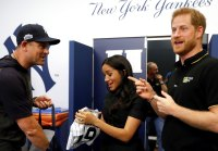 Duchess Meghan Accompanies Prince Harry to History-Making MLB London Series, Receives Red Sox, Yankees Onesies for Archie