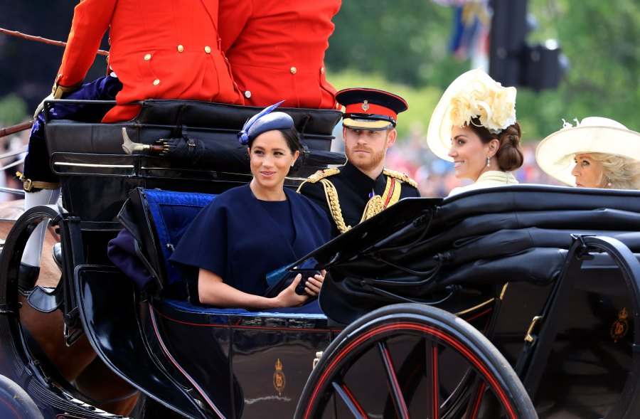 Duchess Meghan Attends Trooping the Colour Parade 1 Month After Giving Birth